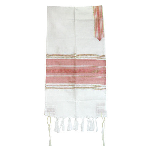 Gabrieli Silk Tallit - Pink with a Touch of Gold