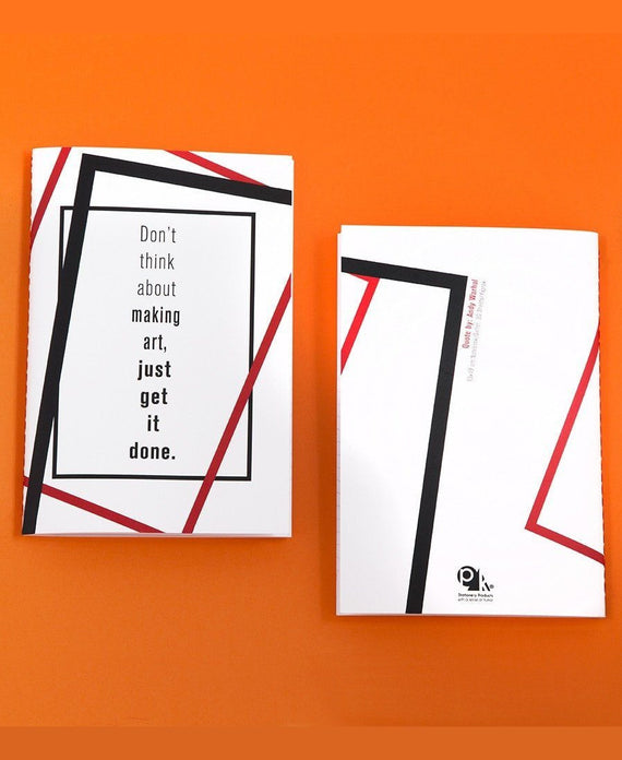 pk design defter quotation master | andy warhol
