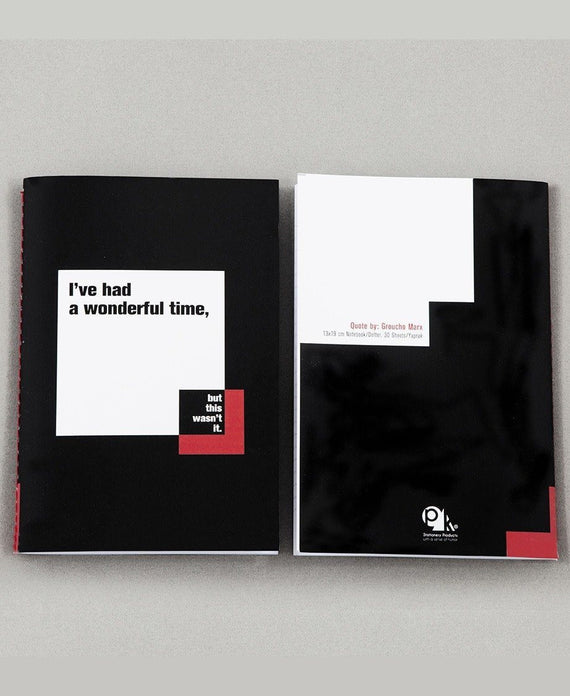 pk design defter quotation master | groucho marx