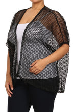 Heavy Black Fishnet Vest