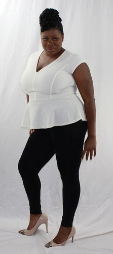 White Short Sleeve Pullover Top