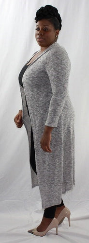 Heather Grey Long Sweater Sleeve Hoodie