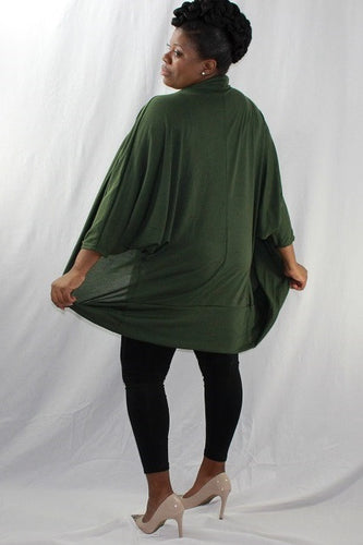 Olive Green Oversize Sweater