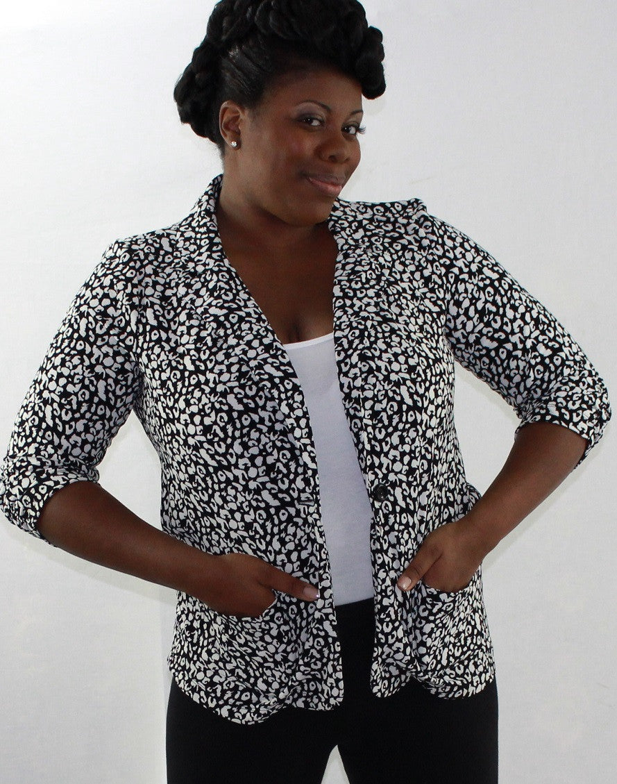Speckled Ivory/Black Jacket