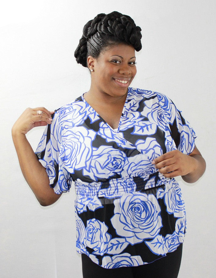 Rosey Flower Top