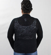 Black Waterfall Sweater