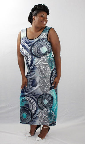 Cool Long Maxi Abstract Dress
