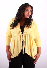 Sunset Yellow 3/4 Slevee Top