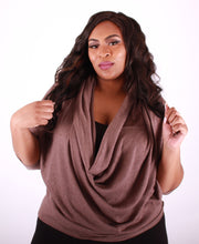 Pecan Cowl Neck Top