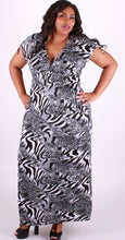 Grey Long Maxi Animal Print