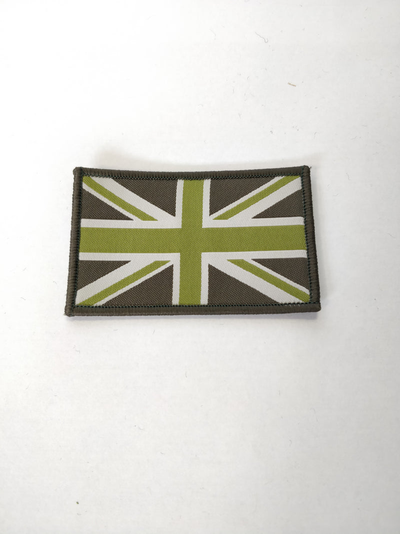 Union Flag Green/Black Velcro Backed Patch