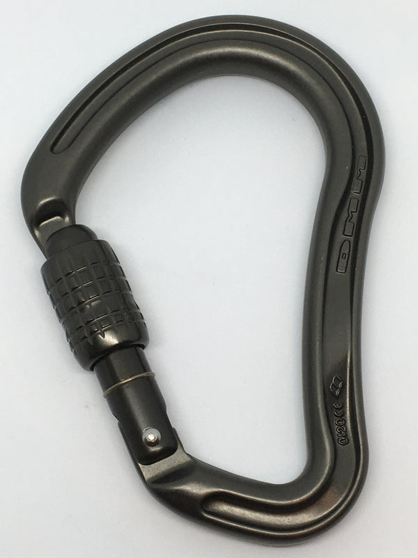 DMM Boa HMS Screwgate Rock Climbing Carabiner tactical grey
