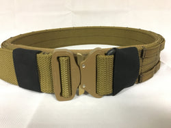 FRV tailoring coyote brown shooters belt with a D ring.