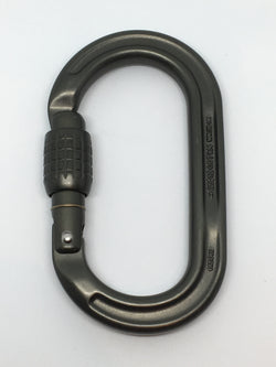 DMM Ultra O Oval Screwgate Rock Climbing Carabiner tactical Grey