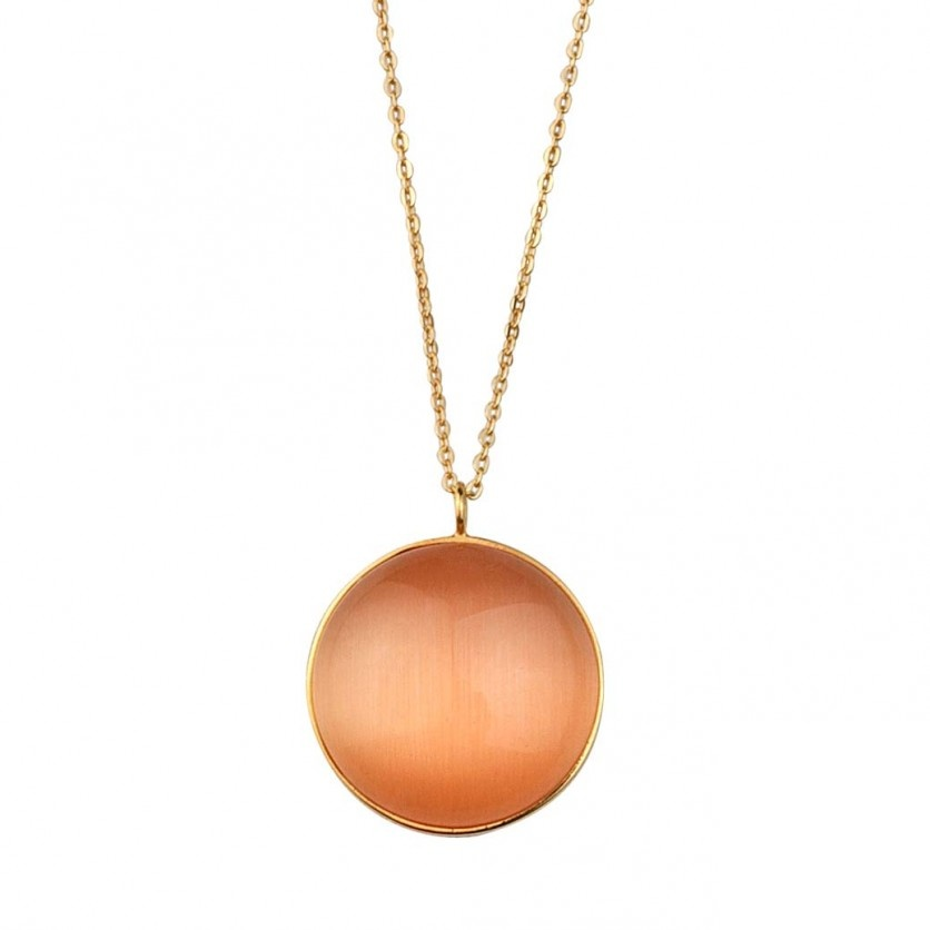 Orange Cat Eye Necklace