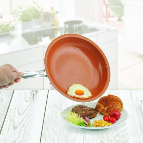 EzyPan™ (Non-Stick Copper Frying Pan with Ceramic Coating & Induction)