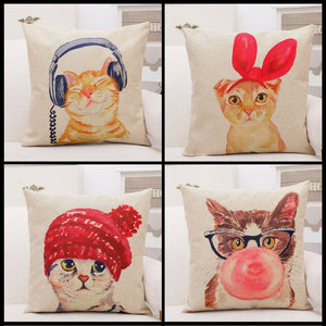 Limited Edition Cat Pillow Cover Case - GenieMania