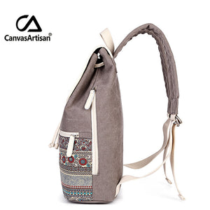 TRAVEL RETRO CANVAS BACKPACK [4 VARIANTS] - GenieMania