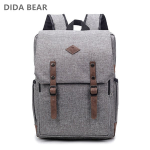 15INCH NYLON UNISEX LAPTOP SCHOOL BACKPACK [5 VARIANTS] - GenieMania