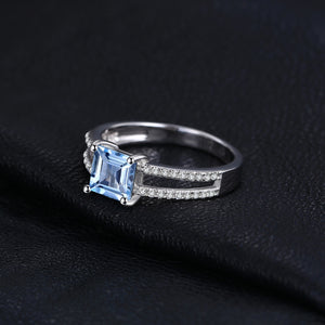 March Aquamarine Queen Ring