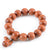 HAND-CARVED OVAL NATURAL PEACHWOOD MEDITATION BRACELET
