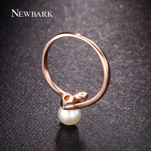 Rose Gold Pearl Ring
