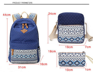 Stylish Canvas Printing Backpack - GenieMania