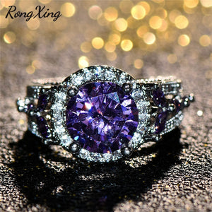 Genuine Amethyst Gemstone Ring - GenieMania