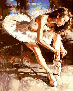Ballerina girl - DIY Paint by Numbers - GenieMania