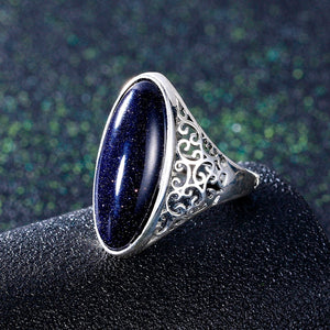 Ave - Vintage Blue Elegant Ring
