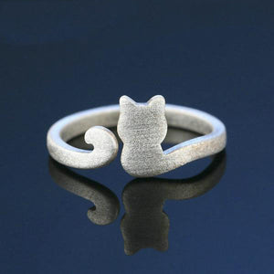 """STAND AGAINST CAT ABUSE"" AWARENESS RING (adjustable to fit any finger) - GenieMania"
