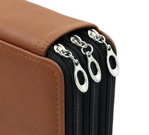 LEATHER (PU) PENCIL CASE 124 PENCILS
