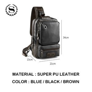 CASUAL LEATHER MESSENGER BAG [3 VARIANTS] - GenieMania