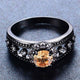 November Black Gold Filled Ring - GenieMania