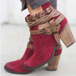 Eve® BUCKLE STRAP HEELS ANKLE BOOTS