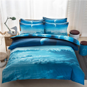 3D Galaxy Bedding Set - GenieMania