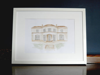 Wedding Venue Watercolour Illustrations