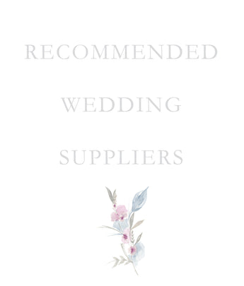 My Recommended Wedding Suppliers
