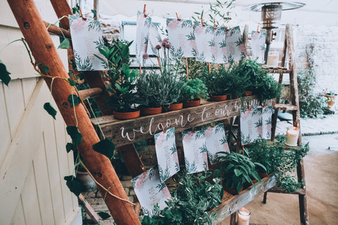 Greenery herb table plan ideas
