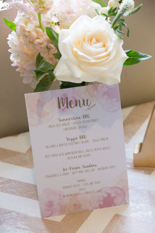 Wedding Menu - Stubton Hall