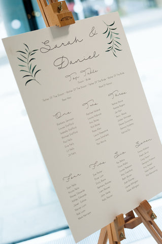 Large greenery table plan