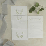 The Crest Invitation Bundle - Invitation, Information Card, RSVP, Belly Band and C5 Envelope