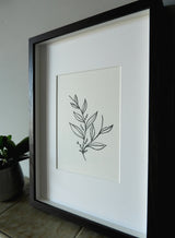 Budding Leaves Pen & Ink Print