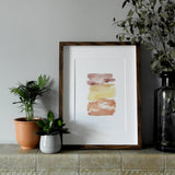 Terracotta Brush Watercolour Print