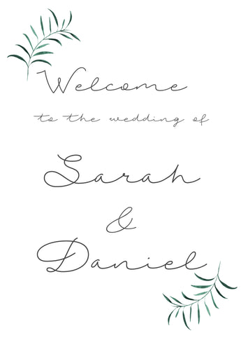 Olive Twigs Welcome Sign