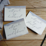 Watercolour Brush Calligraphy A6 'Will You Be My Maid of Honour?' Card