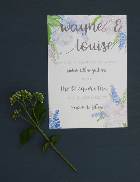 Country Garden A5 Evening Invitations