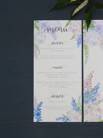Country Garden Menu