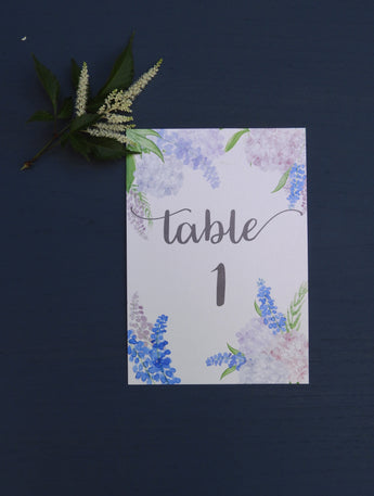 Country Garden A5 Table Numbers / Names