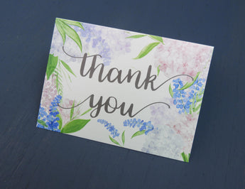 Country Garden Thank You Card